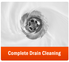 a cleaned drain done by our team